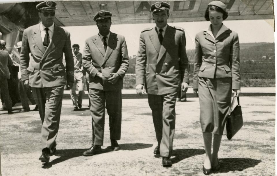 Maribel Sastre met piloten